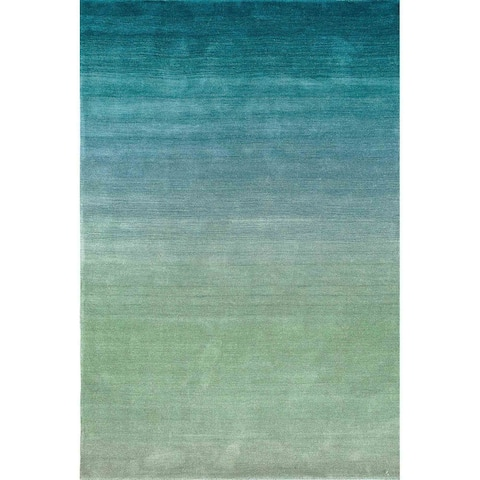 """Liora Manne Arca Ombre Indoor Rug Aqua 5'X7'6"""""""