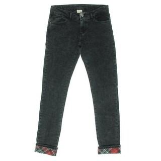 Zara Girls Faded Five-Pocket Slim Jeans - 13/14