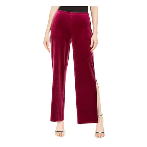MSK Womens Maroon Solid Evening Pants Size L