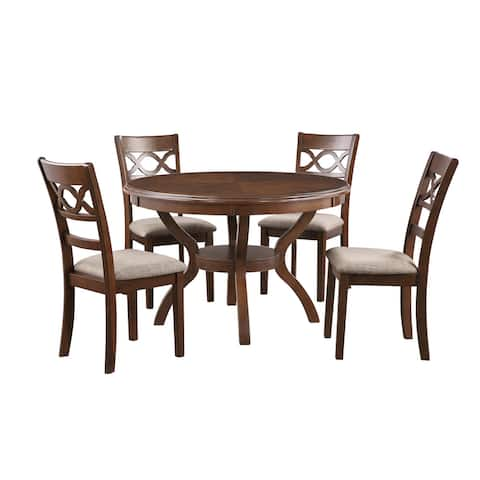 Cori 5-pc Dining Set w/ Table & 4 Chairs, by New Classic Furniture