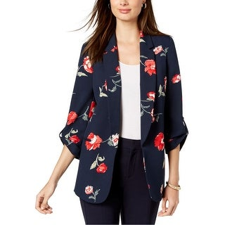 Link to Nine West Womens Floral Blazer Jacket, blue, Small Similar Items in Suits & Suit Separates