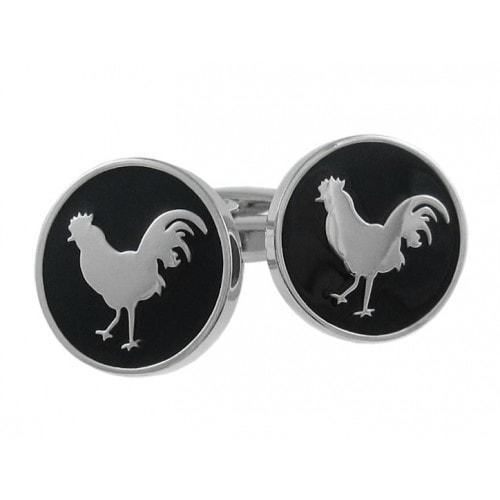 Round Rooster Cufflinks