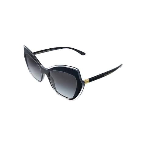 Dolce & Gabbana DG 4361 53838G 52mm Womens Black Frame Grey Gradient Lens Sunglasses
