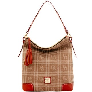 Dooney & Bourke DB Plaid Jacquard Small Sloan (Introduced by Dooney & Bourke at $228 in Jul 2016) - Tan