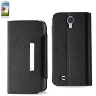 Reiko - Magnet FIip Smooth Leather Case for Samsung Galaxy S4 - Black