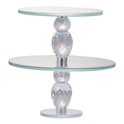 Alighieri 10-inch Two-Tier Clear Cake Plate