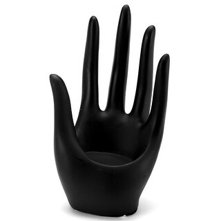 "Hand Form Display 3.25""X6""-Black Polyresin - Black"