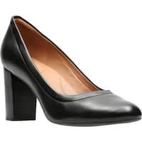 Clarks Women's Chryssa Ari Pump Black Full Grain Leather