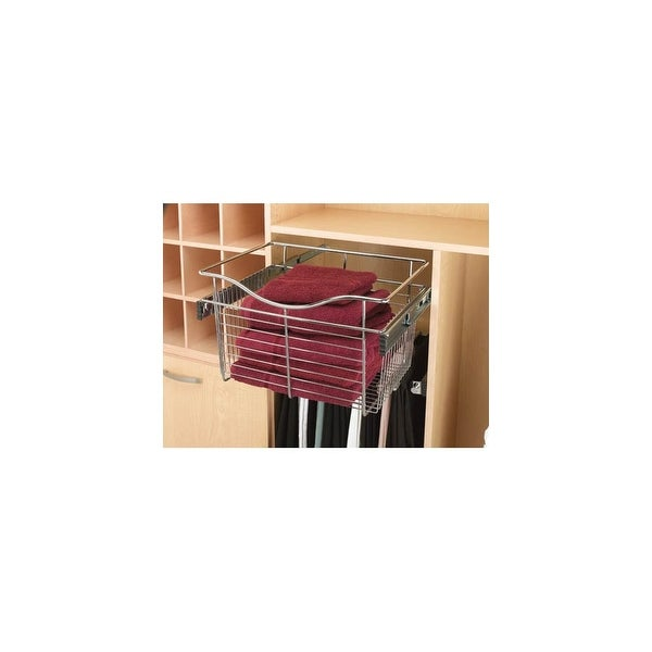 """Rev-A-Shelf CB-181411 CB Series 18"""" Wide by 14"""" Deep by 11"""" High Pull Out Closet Basket"""