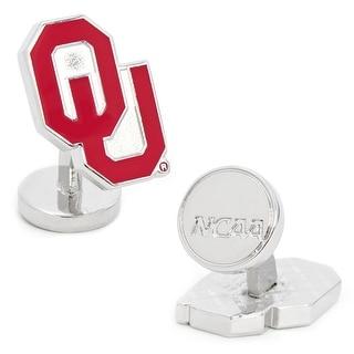 Palladium Oklahoma University Sooners Cufflinks - Red