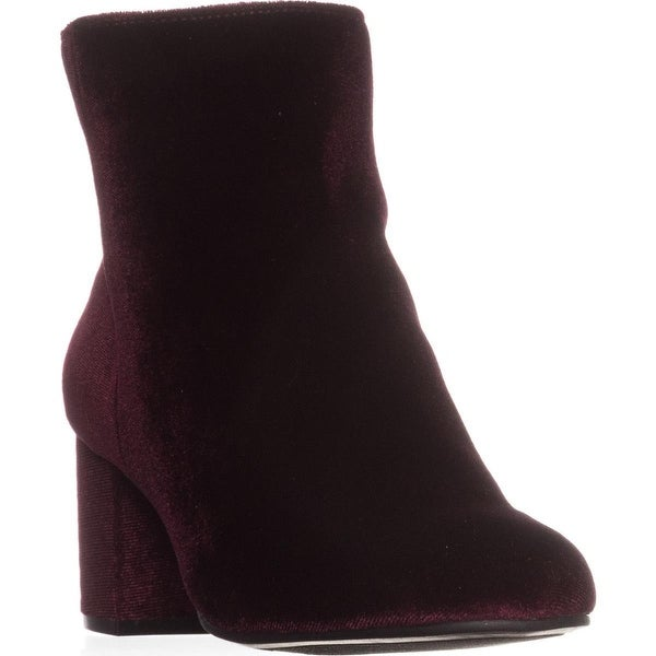 Rebel by ZIGI Nanon Ankle Boots, Wine Velvet