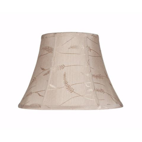 "Aspen Creative Bell Shape Spider Construction Lamp Shade in Oatmeal (7"" x 13"" x 9 1/2"")"