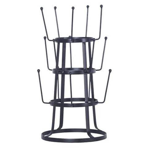 Stylish Steel Mug Holder/Tree/Rack -Black - N/A