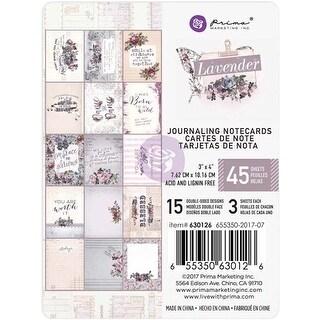 "15 Designs/3 Each - Lavender Journaling Cards Pad 3""X4"" 45/Pkg"