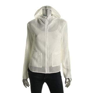 Clover Canyon Womens Mesh Hooded Basic Jacket - S
