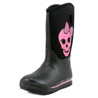 Skechers Puddle Princess Youth Round Toe Synthetic Black Rain Boot
