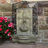 Sunnydaze French Lily Solar Outdoor Wall Fountain, Multiple Colors