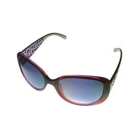 Esprit Womens Sunglass 19376 517 Black to Red Fade Plastic, Smoke Gradient Lens