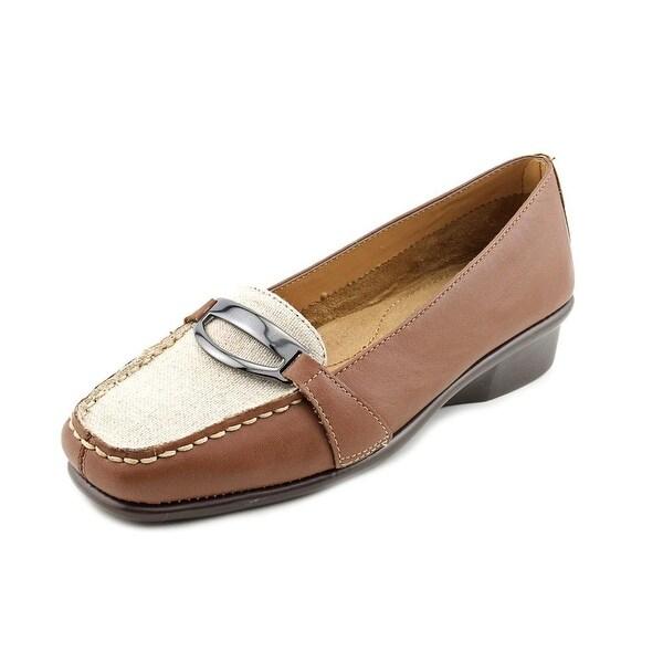 Aerosoles Medley Women Moc Toe Leather Tan Loafer