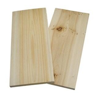 Cedar Wood Grilling Plank 2 Piece Pack - beige