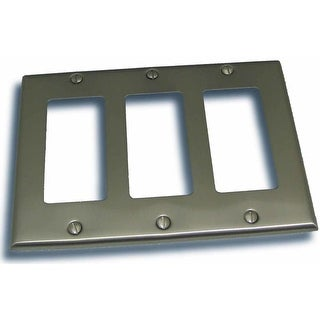 "Residential Essentials 10834 4.5"" X 6.375"" Triple Rocker Switch Plate Featuring a Rustic / Country Theme"