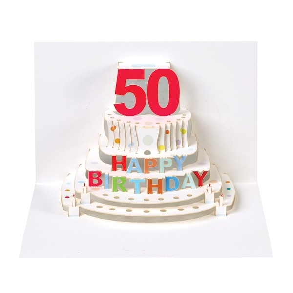 Shop Pop Up Milestone Birthday Cards Happy Birthday Cake Fifty