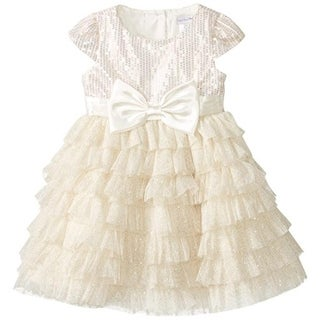 Sweet Heart Rose Girls Glitter Special Occasion Dress - 6x