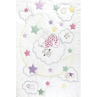 "Stamped White Quilt Crib Top 40""X60""-Dreamland"