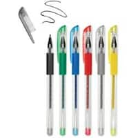 Metallics-Living In Color Color-Flow Glitter Gel Pen Set 6/Pkg