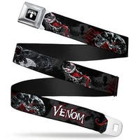 Marvel Universe Venom Spider Logo Full Color Black White Venom Poses Spider Seatbelt Belt