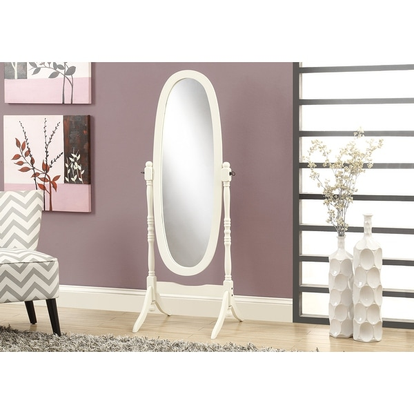 Monarch 3102 Antique White Oval Wood Frame 59nch Mirror. Opens flyout.