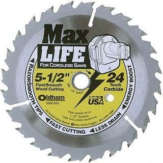"Black & Decker 550C424 ""Max Life"" 24Tht Circular Saw Blade 5-1/2"""