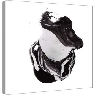 "PTM Images 9-101024  PTM Canvas Collection 12"" x 12"" - ""Polished in Black and White"" Giclee Abstract Art Print on Canvas"