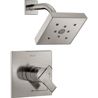Delta T17267 Ara Monitor 17 Series Dual Function Pressure Balanced Shower Trim Package with H2Okinetic Shower Head - Less