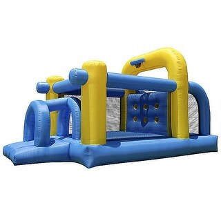 Cloud 9 Mighty Bounce Tunnel Bounce House - Inflatable Kids Jumper without Blower