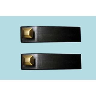 2 Door Wedge Solid Mango Wood Oil Rubbed Bronze Knob Black