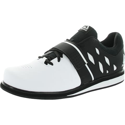 Reebok Mens Lifter PR Trainers Fitness Workout - White/Black