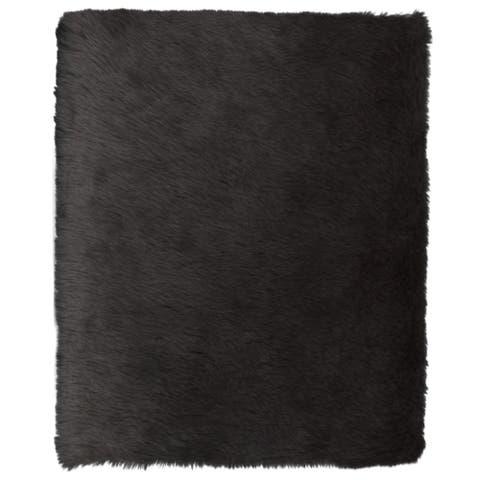 "Faux Sheepskin Grey Rug 4'0"" x 6'0"" - ECARPETGALLERY - 4'0 x 6'0"