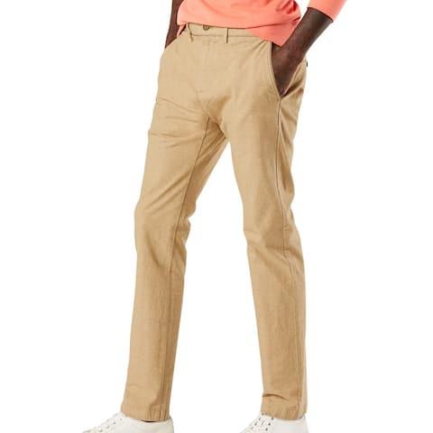 Dockers Mens Chino Pants Khaki Beige Size 38x29 Smart-360-Flex Stretch