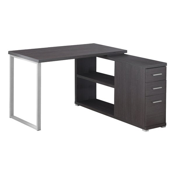 """47.25"""" Iron Gray Contemporary L Shaped Computer Desk - N/A"""