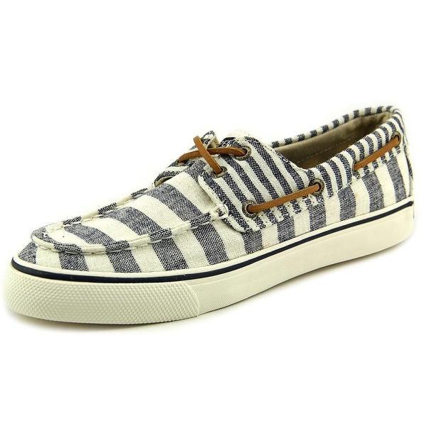 Sperry Top Sider Bahama Multi Stripe Women  Moc Toe Canvas  Boat Shoe