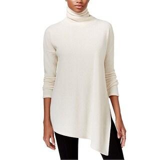 RACHEL Rachel Roy Asymmetrical Turtleneck Tunic Sweater - xs