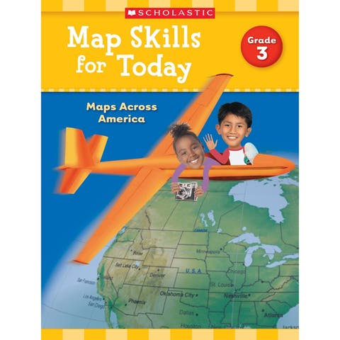 Scholastic (6 ea) map skills for today gr 3 821490bn