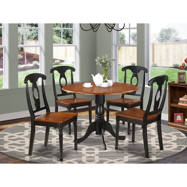 Black And Cherry Table With Four Dinette Chair Dining Set - On Sale - Overstock - 10201229