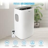 DELLA 10,000 BTU UL Listed Energy Saving Portable Air Conditioner Unit w/ Remote Control, White