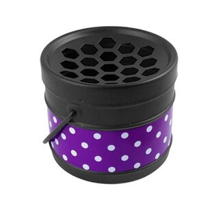 Unique Bargains Home Portable Dot Bucket Metal Ashtray Decor Black Purple