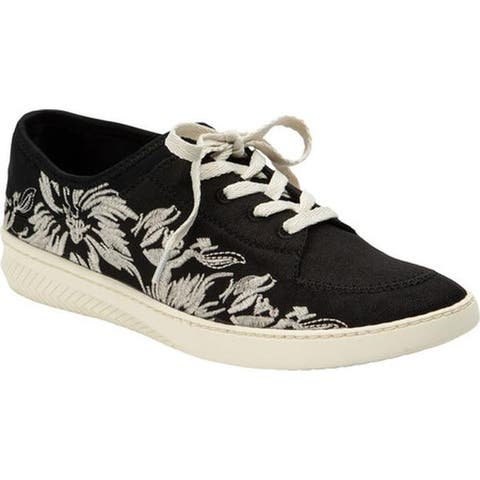 Bare Traps Women's Yalora Embroidered Sneaker Black Jane Fabric