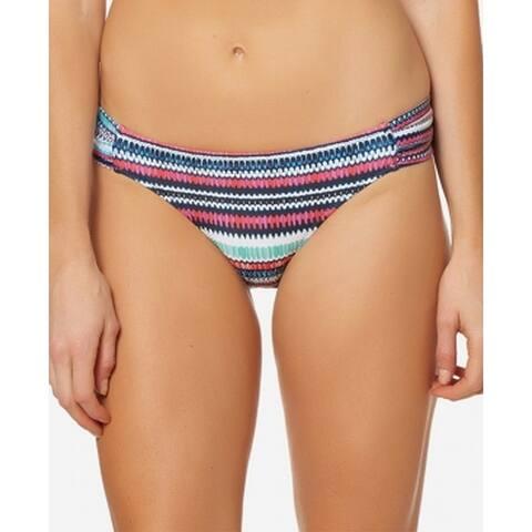 Jessica Simpson Blue Womens Size Small S Striped Swim Bikini Bottom