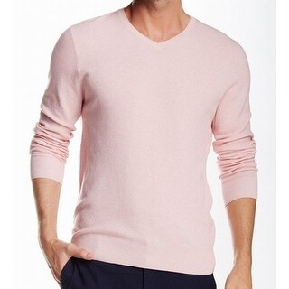 Vince Camuto NEW Light Pink Mens Size XL Textured V-Neck Sweater