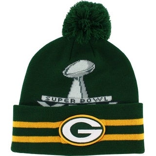Green Bay Packers Superbowl XLV Knit Hat with Pom